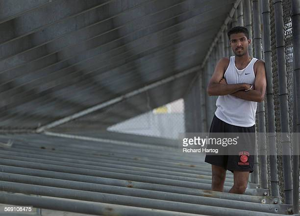 Runner Amit Misra Misra after track practice at Van Nuys High School Wednesday afternoon in Van Nuys Misra a senior ran a career best of 15544 in the...
