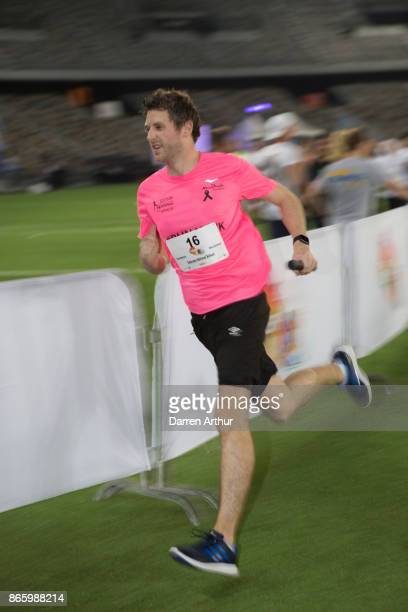 A runner competes during the Abu Dhabi Dash 2017 at Zayed Sports City on October 24 2017 in Abu Dhabi United Arab Emirates
