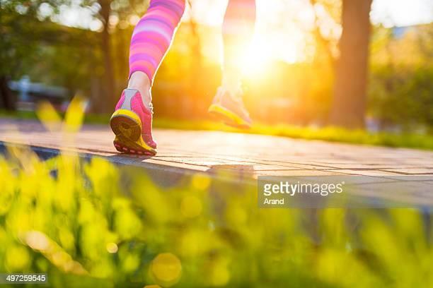 Runner feet.