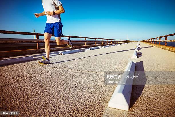 runner florida keys - seven mile bridge stock pictures, royalty-free photos & images