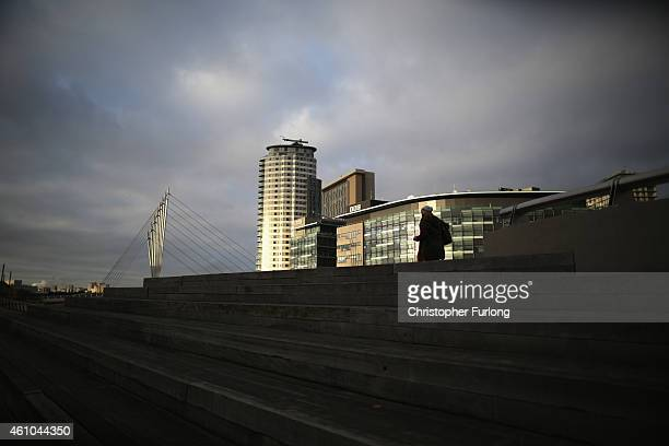A runner goes by Media City in Salford Quays which is home to the BBC ITV television studios and also houses many media production companies on...