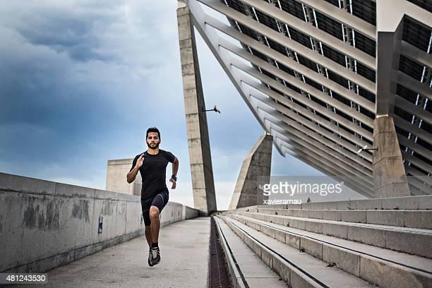 Runner in the city