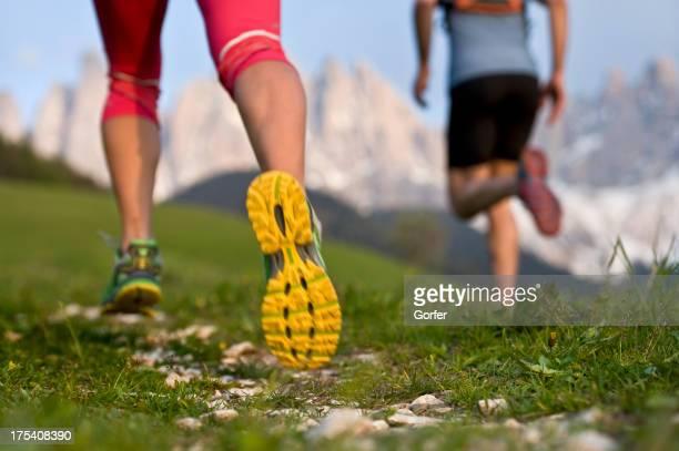 runner in the Dolomites