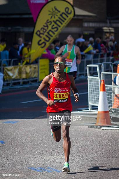 Runner in the London Marathon 2014