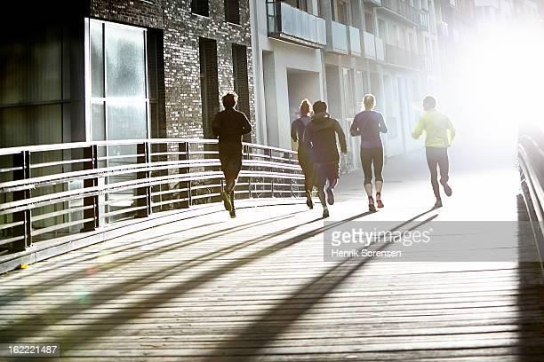 Runner in urban invironment