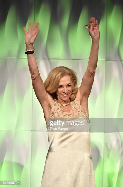 Runner Kathrine Switzer walks onstage at the 37th Annual Salute To Women In Sports Gala at Cipriani Wall Street on October 19 2016 in New York City