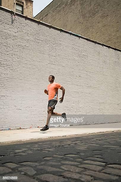 Runner on street