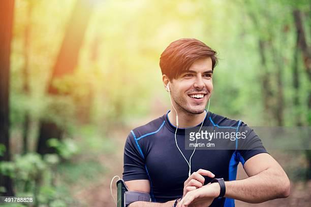 Runner preparing for jogging
