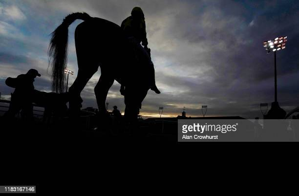 Runner returns after racing at Chelmsford City Racecourse on October 24, 2019 in Chelmsford, England.