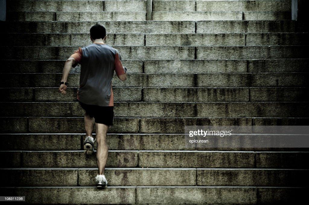 Formazione sugli intervalli di corsa le scale : Foto stock