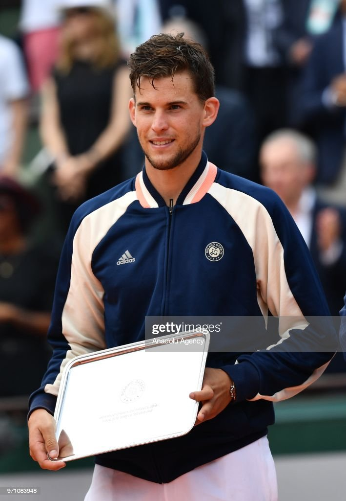 Image result for dominic thiem french open final ceremony 2018