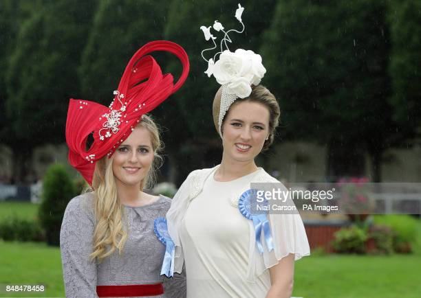 Runner up Elaine Bury and Lucy GilmoreMurphy winner the best dressed lady event during the Dublin Horse Show at the RDS Dublin