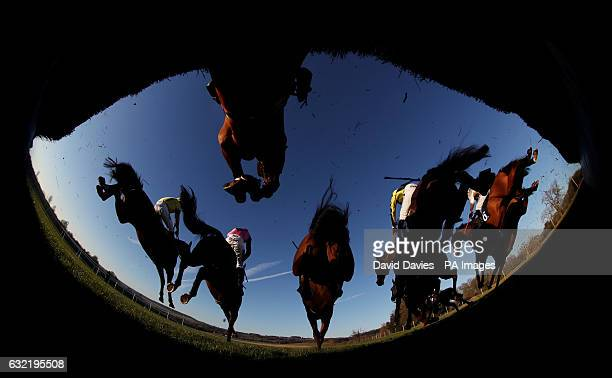 Runners and riders compete in the 188betcouk Handicap Chase at Chepstow Racecourse PRESS ASSOCIATION Photo Picture date Friday January 20 2017 See PA...