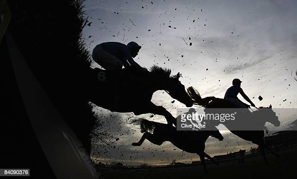 Runners and riders in action during the Liberum Capital Novices' Handicap Chase at Ascot Races on December 19 2008 in Ascot England