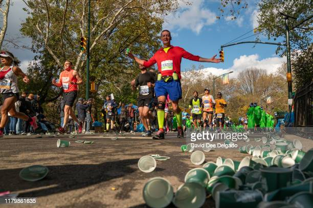 Runners are seen during the 2019 TCS New York City Marathon on November 3, 2019 in New York City.