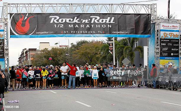 Runners at the start of the Rock n Roll Half Marathon on February 12 2012 in St Petersburg Florida
