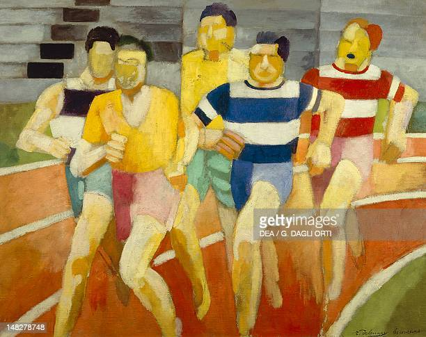 Runners by Robert Delaunay oil on canvas Troyes Musée D'Art Moderne