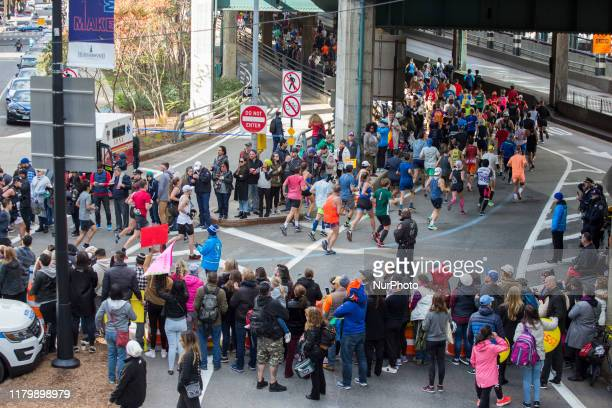 Runners compete at the New York City Marathon Sunday November 3rd 2019 The NYC Marathon which is the largest race in the world had over 50000...