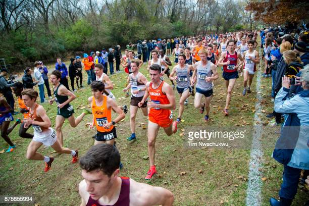 Runners compete during the Division I Men's Cross Country Championship held at EP Tom Sawyer Park on November 18 2017 in Louisville Kentucky