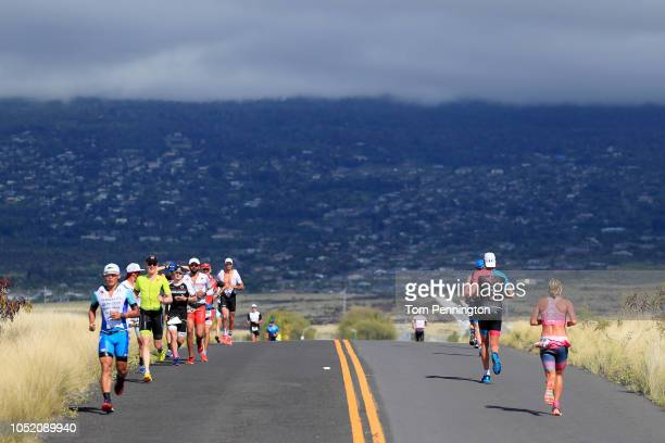 Runners compete during the IRONMAN World Championships brought to you by Amazon on October 13 2018 in Kailua Kona Hawaii
