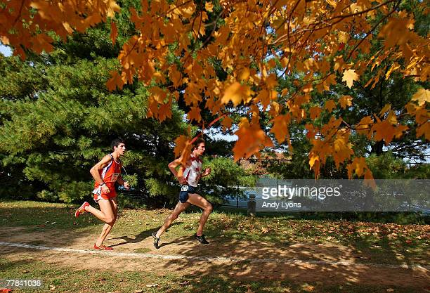 Runners compete during the Men's NCAA Southeast Regional Cross Country meet on November 10 2007 at EP Sawyer State Park in Louisville Kentucky