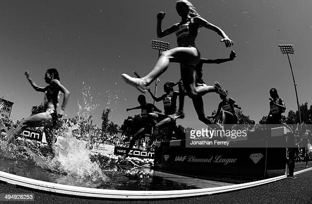 Runners compete in the 3000m Steeplchase during day 2 of the IAAF Diamond League Nike Prefontaine Classic on May 31 2014 at the Hayward Field in...