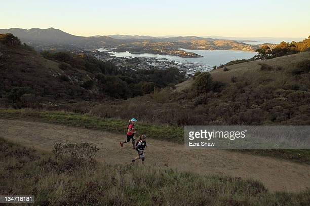 Runners compete in the GORETEX 50 Mile Race in The North Face Endurance Challenge on December 3 2011 in San Francisco California The 50 mile race...