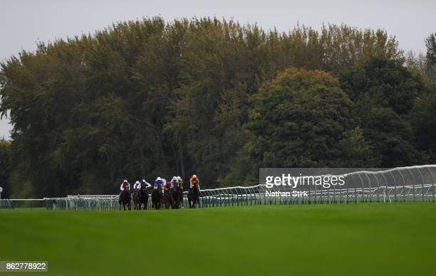 Runners compete in the Kier Construction EFB Maiden Stakes race at Nottingham Racecourse on October 18 2017 in Nottingham England