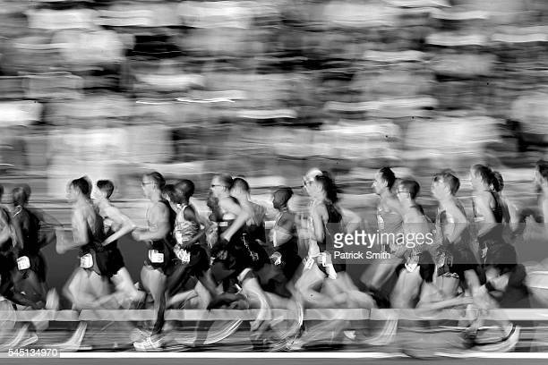 Runners compete in the Men's 10000m Final during the 2016 US Olympic Track Field Team Trials at Hayward Field on July 1 2016 in Eugene Oregon