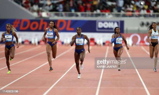 Runners compete in the women's 200m during the IAAF Diamond League competition on May 3, 2019 in Doha.