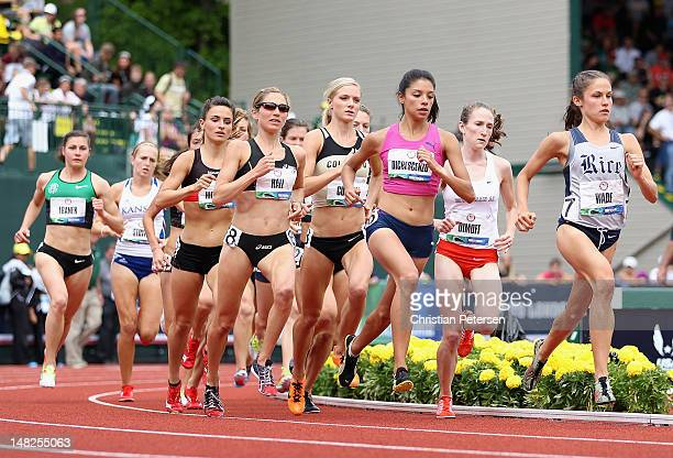 Runners compete in the Women's 3000 Meter Steeplechase Final on day eight of the US Olympic Track Field Team Trials at the Hayward Field on June 29...