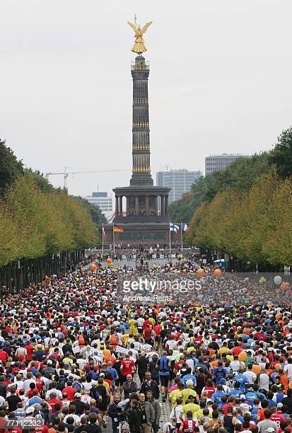 Runners compete the 34th Berlin Marathon on September 30 2007 in Berlin Germany