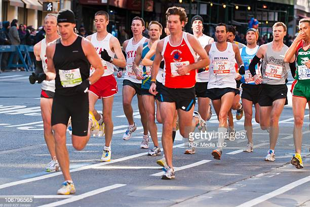 Runners Competing in the 2010 New York City Marathon