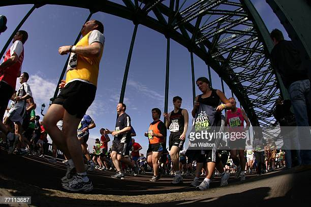 SEPTEMBER 30 SEPTEMBER 30 SEPTEMBER 30 SEPTEMBER 30 SEPTEMBER 30 SEPTEMBER 30 runners cross the Tyne Bridge during the Bupa Great North Run at South...