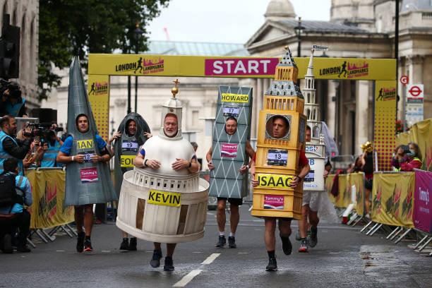 GBR: Covid-19 Half-Marathon Run Through London's Landmarks
