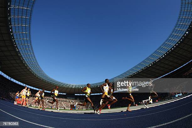 Runners in the men's 1500m during the Iaaf Golden League Istaf meeting at the Olympic Stadium on September 16 2007 in BerlinGermany