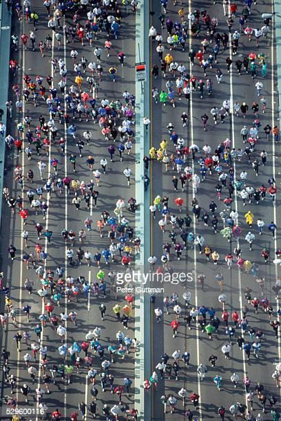 Runners in the New York City Marathon