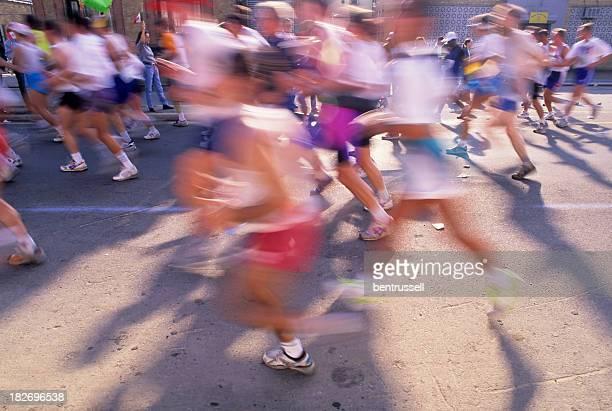 Runners In The NY City Marathon