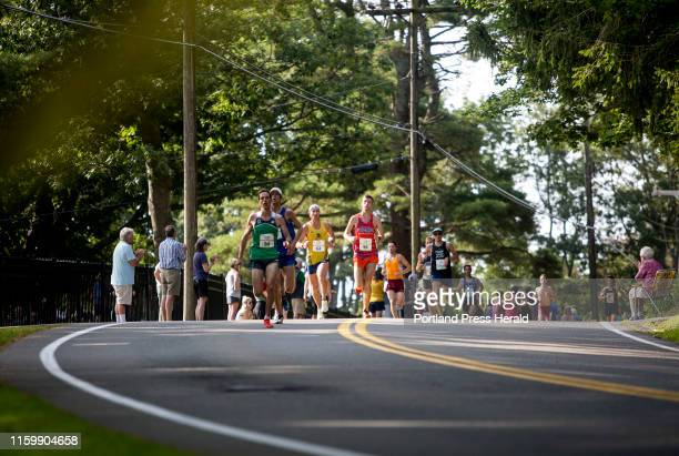 Runners make it to Fort Williams park at the end of the annual Beach to Beacon 10k on Saturday August 3 2019