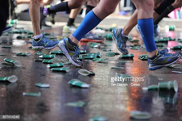 Runners make their way along First Avenue in Manhattan New York during the ING New York Marathon New York USA 3rd November 2013 Photo Tim Clayton