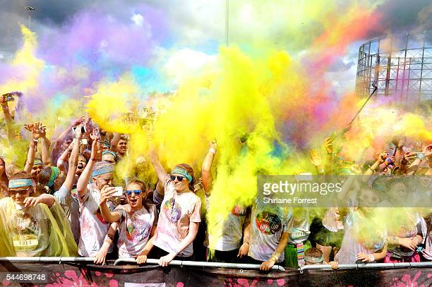 9000 runners of all ages and abilities take part in The Color Run presented by Skittles as The happiest 5k on the planet event returns to Manchesters...
