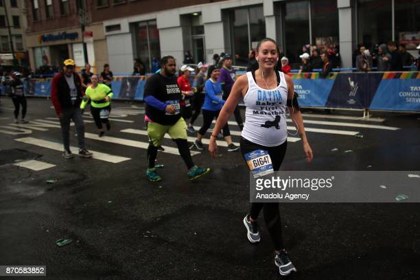 Runners participate in New York City Marathon in Brooklyn borough of New York United States on November 5 2017