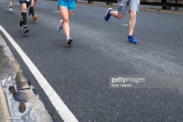 Runners participate in the United Airlines Rock 'N' Roll Marathon and Half Marathon on March 9, 2019 in Washington, DC.