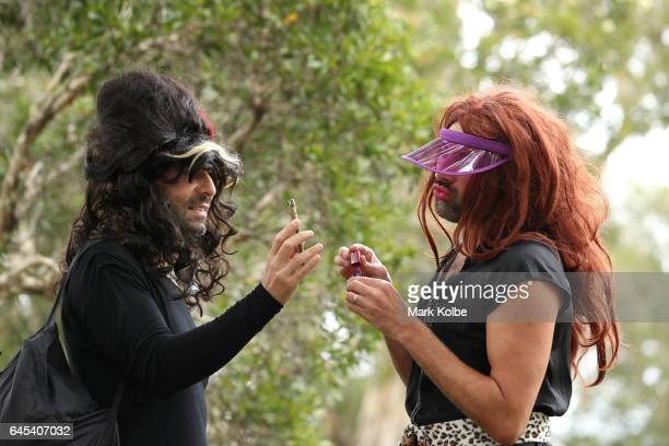 Runners prepare to take part in the annual Little Black Dress run at Centennial Park on February 26 2017 in Sydney Australia The 3km charity run is...