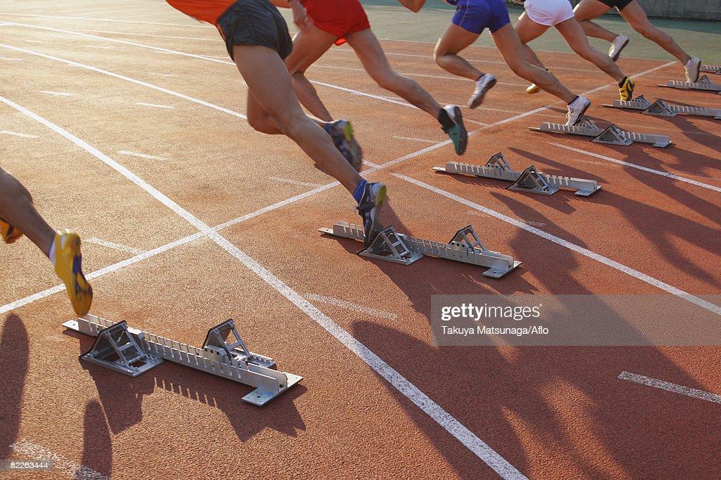 Runners Starting Off : Stock Photo