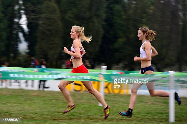 Runners take part in the IAAF World Cross Country Championships in Guiyang southwest China's Guizhou province on March 28 2015 CHINA OUT AFP PHOTO