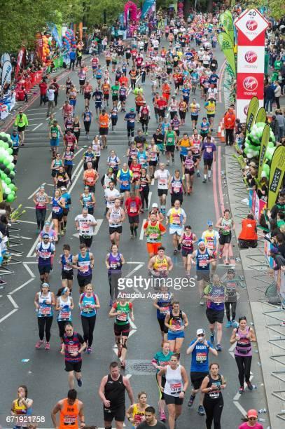 Runners take part in the Virgin Money London Marathon in London England on April 23 2017