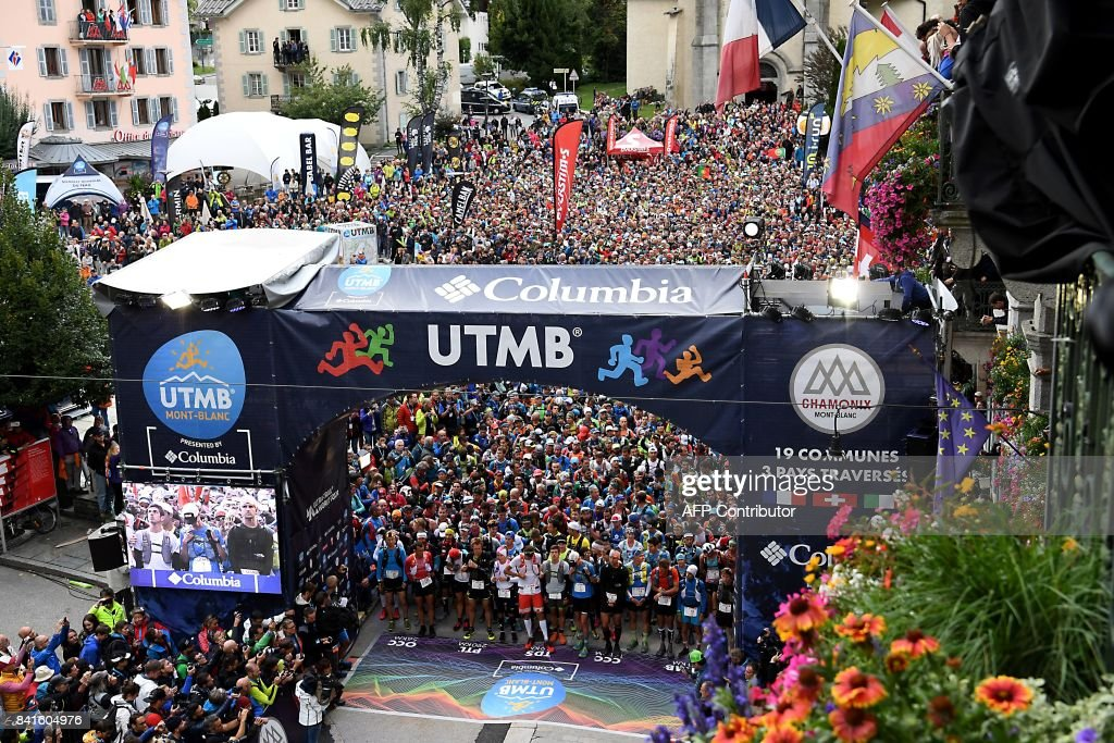 FRANCE-MOUNTAIN-RACE-TRAIL-UTMB : News Photo