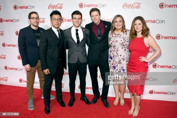 Runnersup Stephen Heleker and Golden Zaho winners of the 2017 CocaCola and Regal Films Program Julian Conner and Tom Teller and runnerups Jane Hollon...
