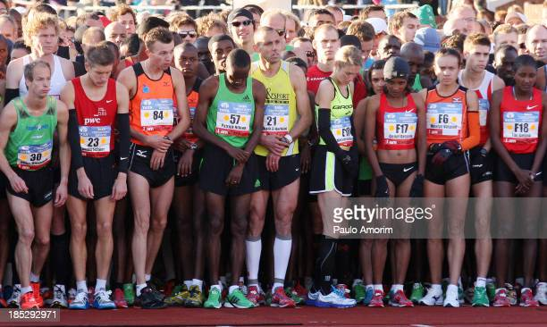 Runnes wait the start during the 36th TCS Amsterdam Marathon on 16 Octubre2011 More than 35000 runners from 83 countries participate in this...